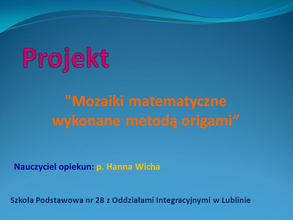 Szkoła Podstawowa nr 28 z Oddziałami Integracyjnymi w Lublinie Poznajemy Lublin i Lubelszczyznę – naszą małą ojczyznę Nauczyciel opiekun: p.