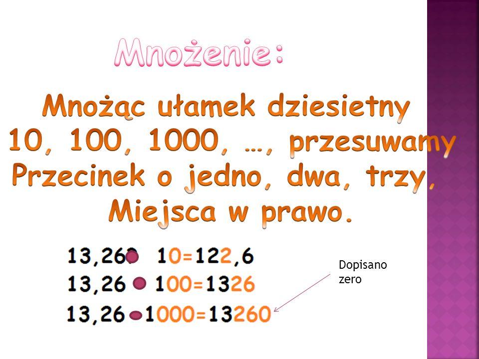 Dopisano zero