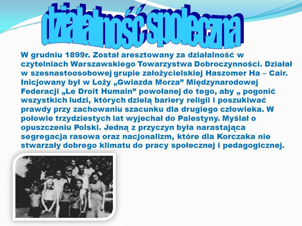 W grudniu 1899r. Został aresztowany za działalność w czytelniach Warszawskiego Towarzystwa Dobroczynności. Działał w szesnastoosobowej grupie założyci