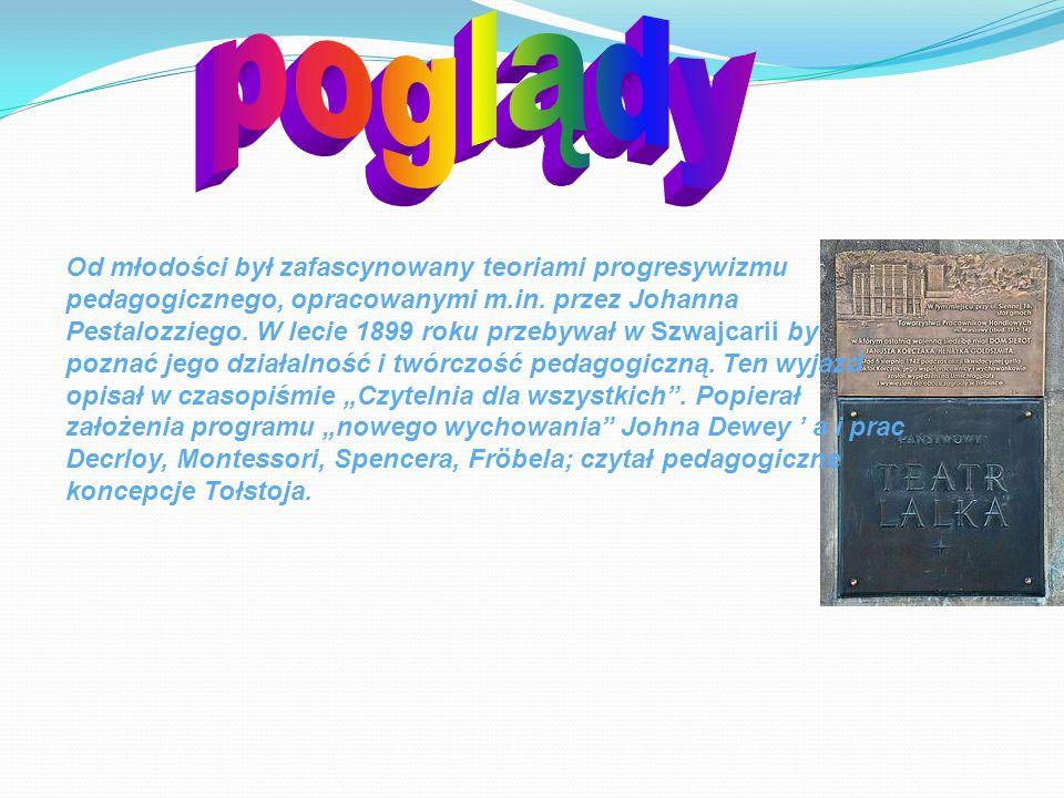 Od młodości był zafascynowany teoriami progresywizmu pedagogicznego, opracowanymi m.in. przez Johanna Pestalozziego. W lecie 1899 roku przebywał w Szw