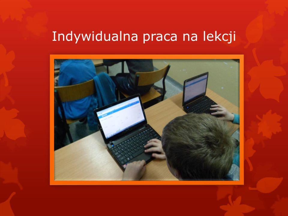 Indywidualna praca na lekcji