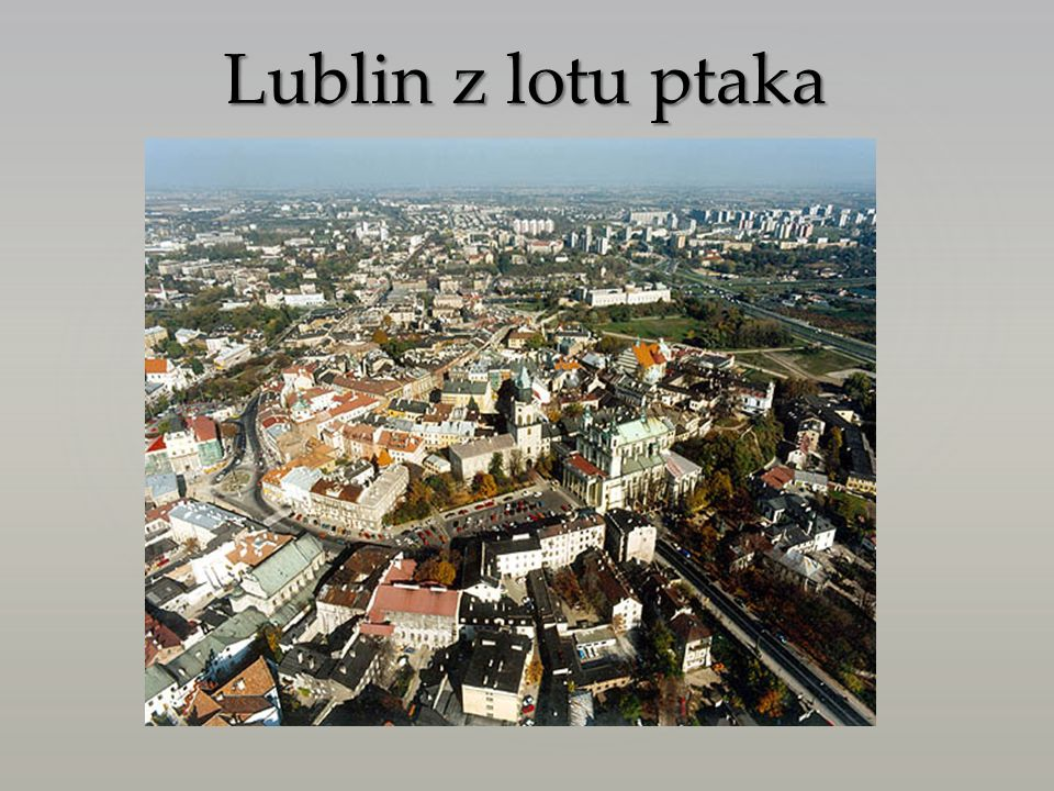 Lublin to największe miasto w Polsce na wschód od Wisły, położone północnym skraju Wyżyny Lubelskiej, nad rzeką Bystrzycą, na wysokościach 163-238 m n.p.m.