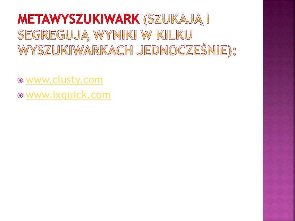 www.clusty.com www.ixquick.com