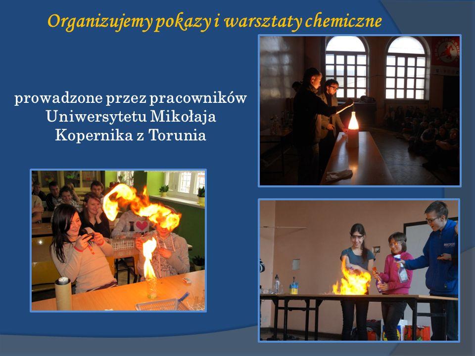 Organizujemy pokazy i warsztaty chemiczne prowadzone przez pracowników Uniwersytetu Mikołaja Kopernika z Torunia