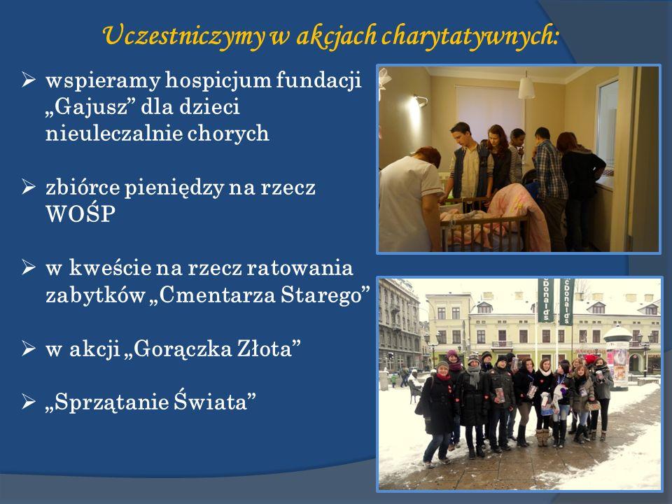 wspieramy hospicjum fundacji Gajusz dla dzieci nieuleczalnie chorych zbiórce pieniędzy na rzecz WOŚP w kweście na rzecz ratowania zabytków Cmentarza S