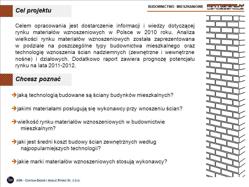 Cel projektu BUDOWNICTWO MIESZKANIOWE jaką technologią budowane są ściany budynków mieszkalnych? jakimi materiałami posługują się wykonawcy przy wnosz