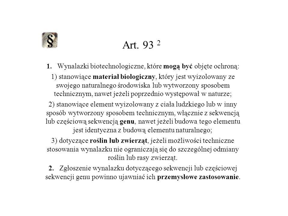 Za wynalazki nie uważa się: Art.28.