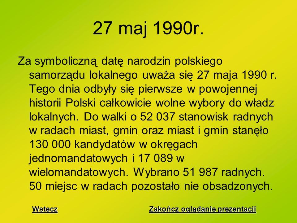 Jak było kiedyś Jak jest teraz Co się wydarzyło 27 maja 1990r.