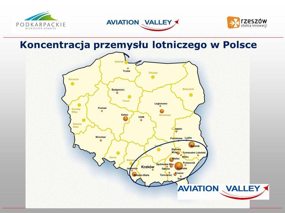 Koncentracja przemysłu lotniczego w Polsce