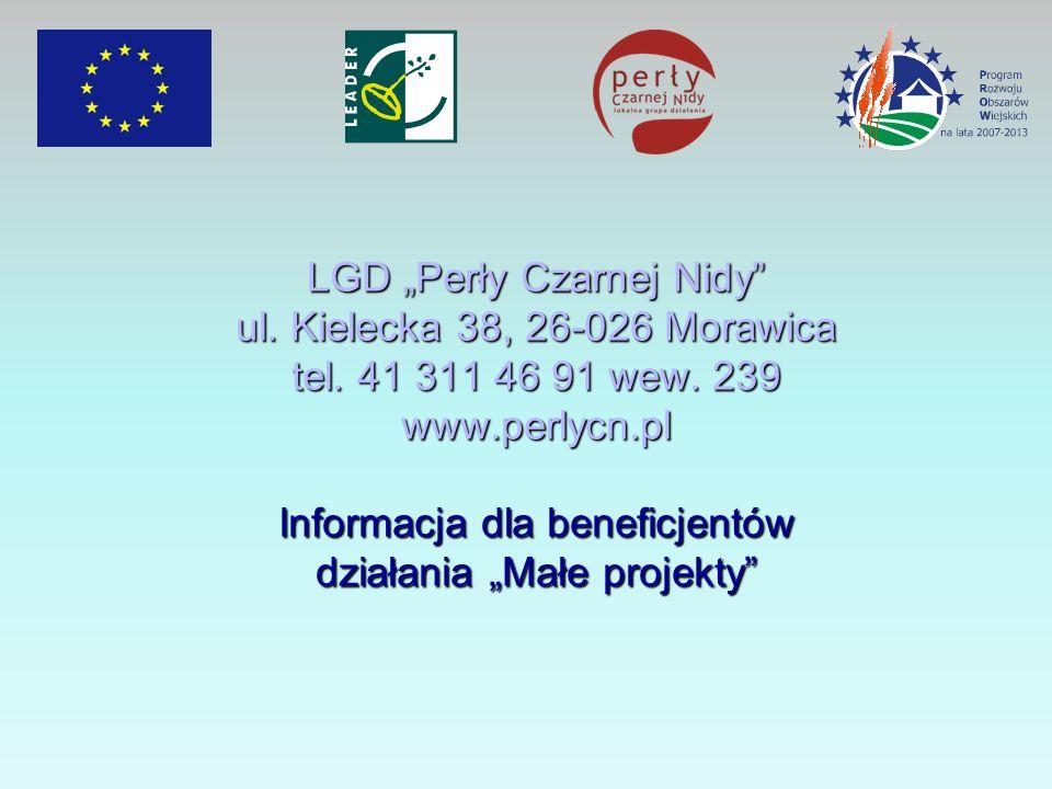 LGD Perły Czarnej Nidy ul.Kielecka 38, 26-026 Morawica tel.