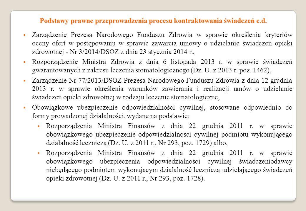 Zarządzenie Prezesa Narodowego Funduszu Zdrowia w sprawie określenia kryteriów oceny ofert w postępowaniu w sprawie zawarcia umowy o udzielanie świadc