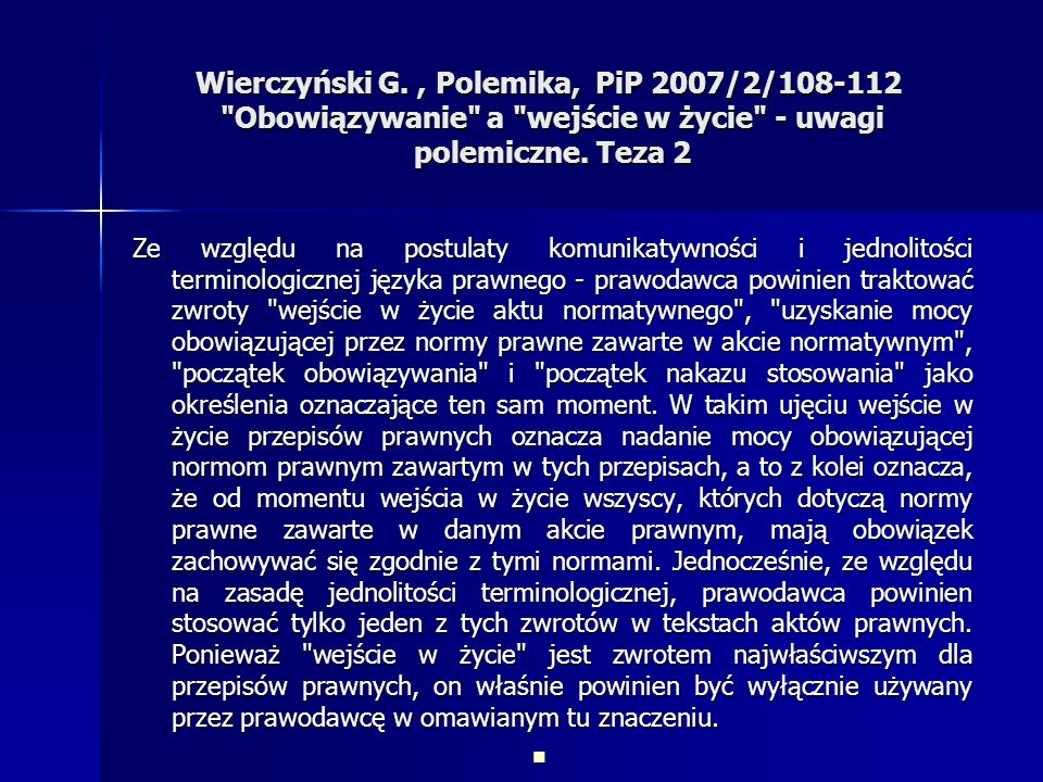 Wierczyński G., Polemika, PiP 2007/2/108-112