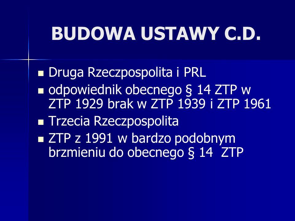 BUDOWA USTAWY C.D.