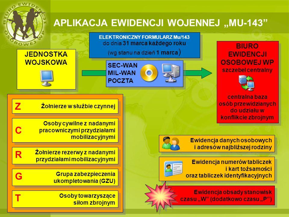 INSTALACJA APLIKACJI MU-143 KROK 1:POBRANIE INSTALACJI APLIKACJI JEDNOSTKA WOJSKOWA ZASTRZEŻONE/ POUFNE JEDNOSTKA WOJSKOWA ZASTRZEŻONE/ POUFNE MIL-WAN http://sew.ron.int www.beo.wp.mil.pl INTERNET