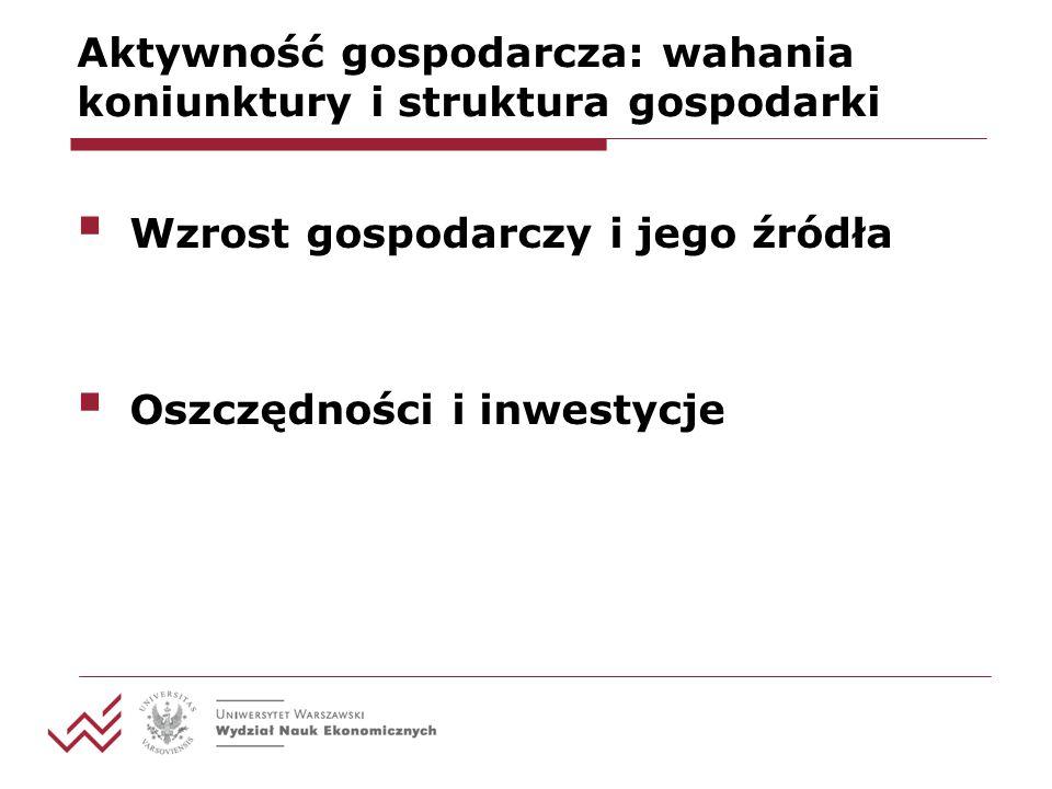 Aktywność gospodarcza: wahania koniunktury i struktura gospodarki Polecenie 1.