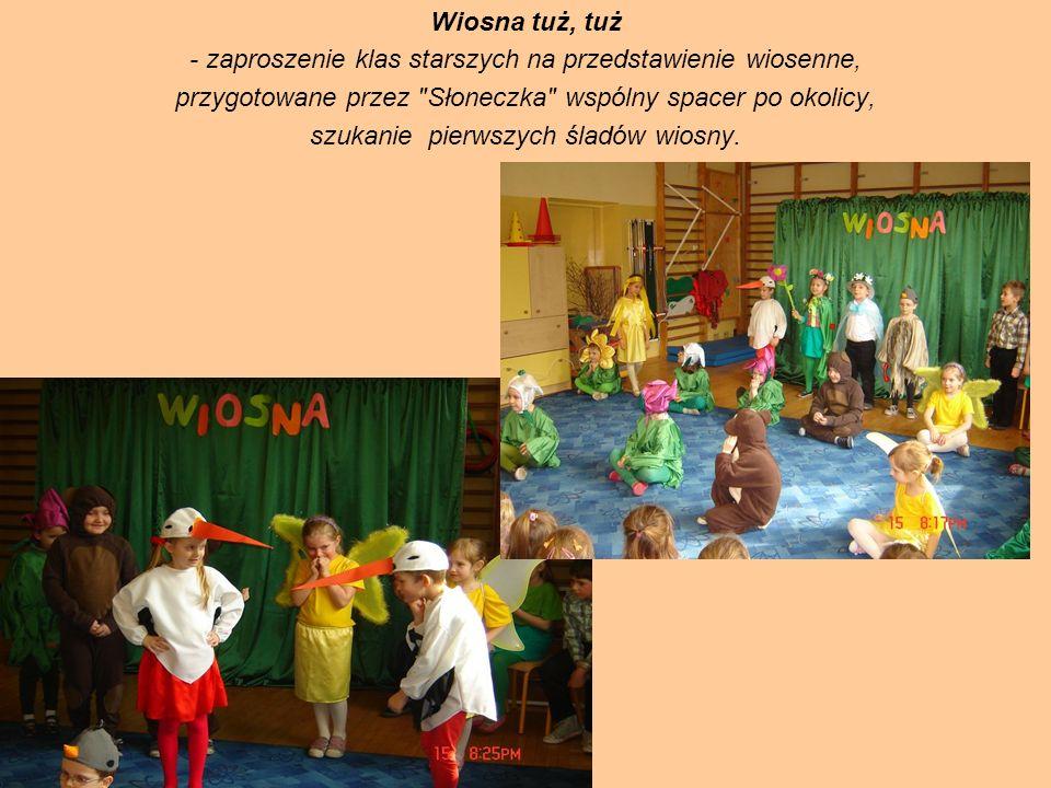 Wiosna tuż, tuż - zaproszenie klas starszych na przedstawienie wiosenne, przygotowane przez