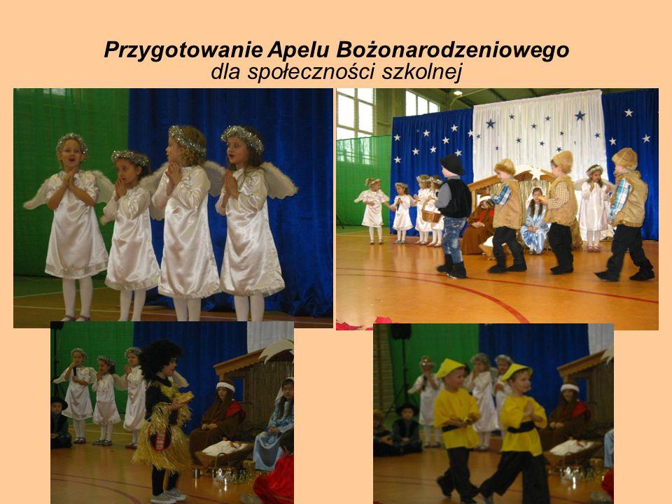 Przygotowanie Apelu Bożonarodzeniowego dla społeczności szkolnej