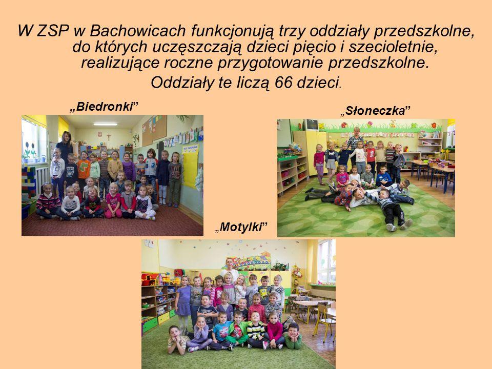 W ZSP w Bachowicach funkcjonują trzy oddziały przedszkolne, do których uczęszczają dzieci pięcio i szecioletnie, realizujące roczne przygotowanie prze