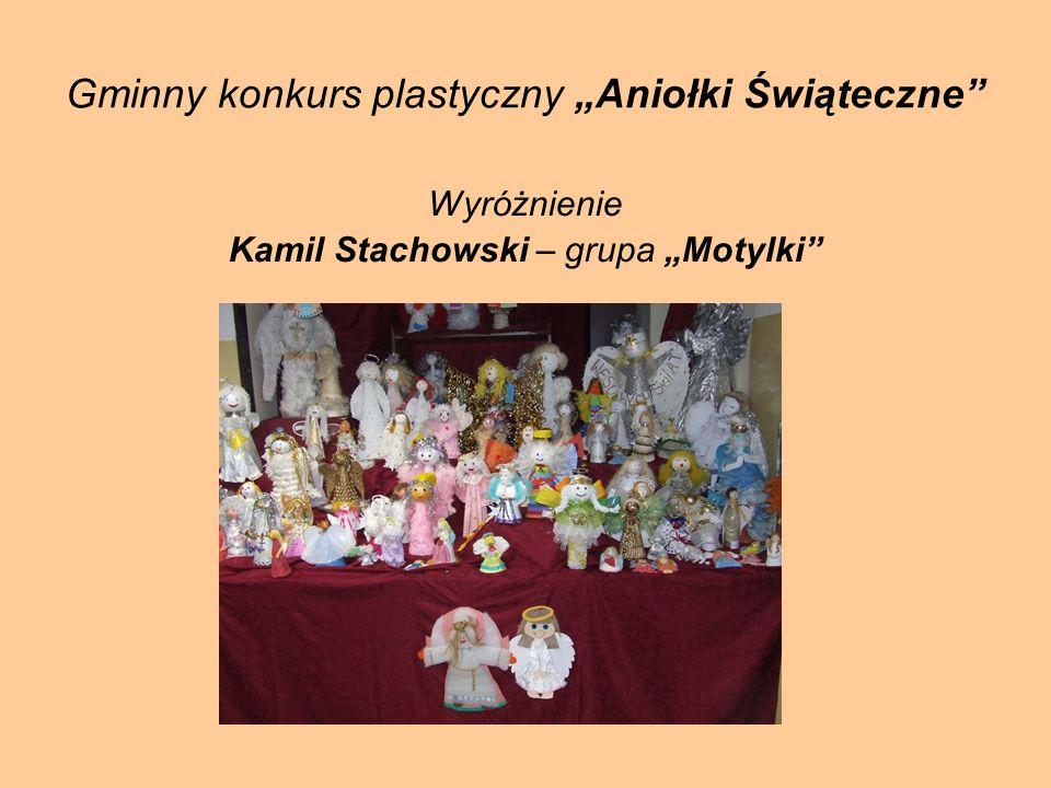 Gminny konkurs plastyczny Aniołki Świąteczne Wyróżnienie Kamil Stachowski – grupa Motylki