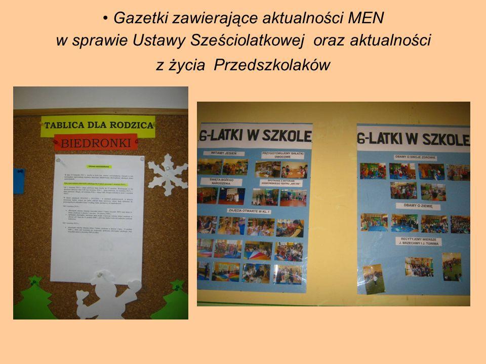 Zakładka informacyjna dla rodziców na stronie internetowej ZSP w Bachowicach Sześciolatku Witaj w szkole