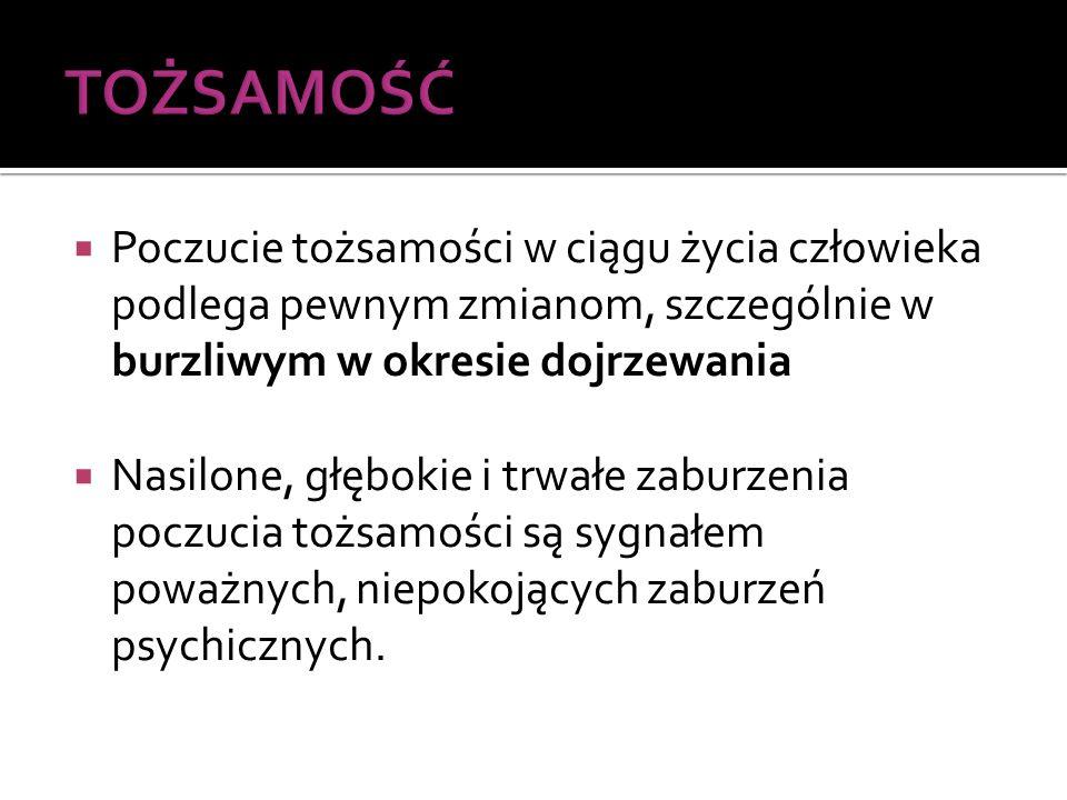 ETAPY W PROCESIE BUDOWANIA TOŻSAMOŚCI (J.