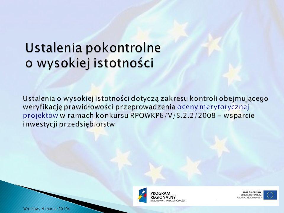 Linia demarkacyjna Na liście rankingowej znajdują się trzy projekty, które z uwagi na poziom całkowitej kwoty wydatków kwalifikowanych w wysokości równej 8 mln PLN powinny zostać ocenione negatywnie już na etapie oceny formalnej.