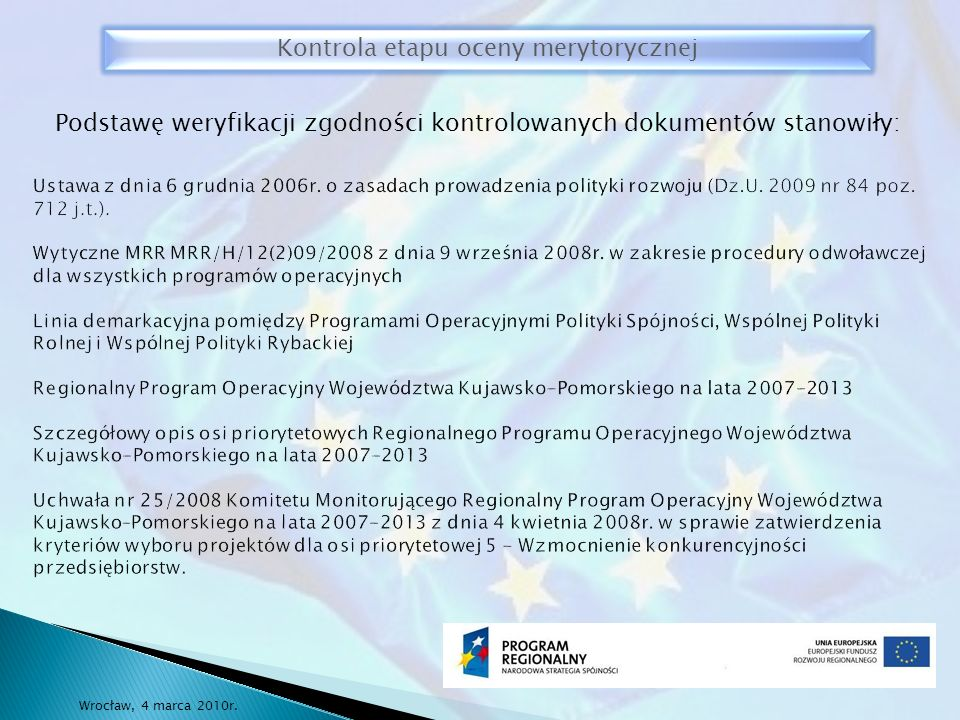 Ustawa z dnia 6 grudnia 2006r. o zasadach prowadzenia polityki rozwoju (Dz.U.