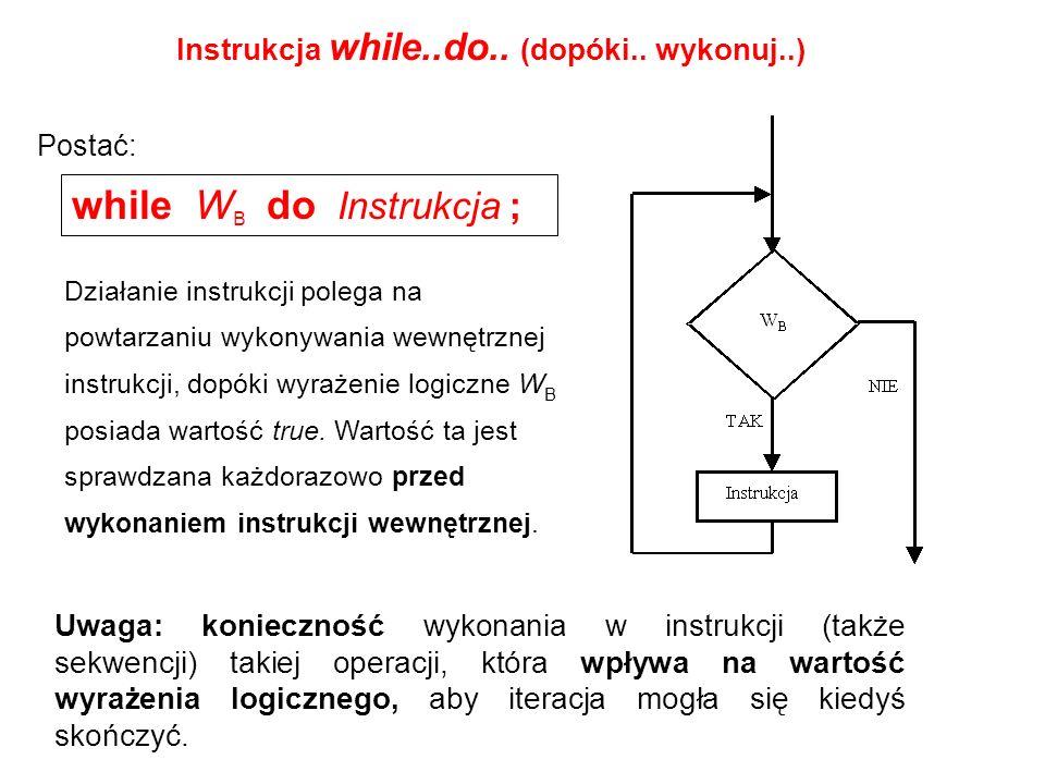 Instrukcja while..do..(dopóki..
