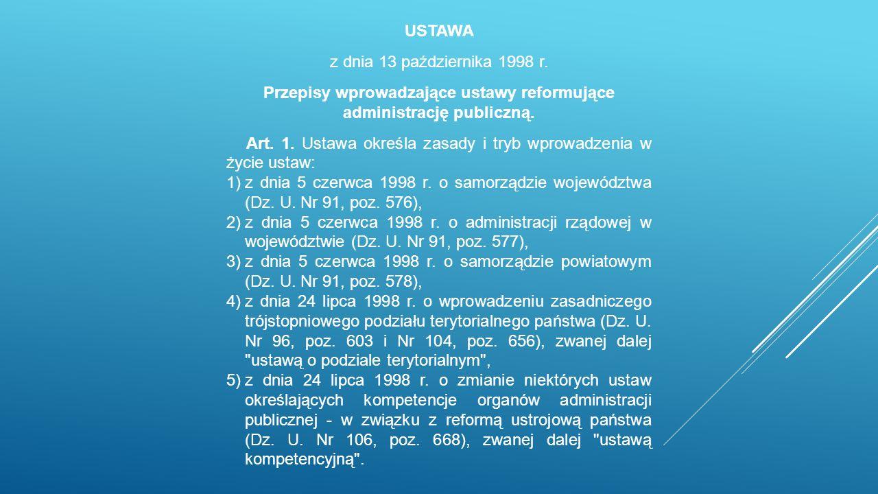 USTAWA z dnia 13 października 1998 r.