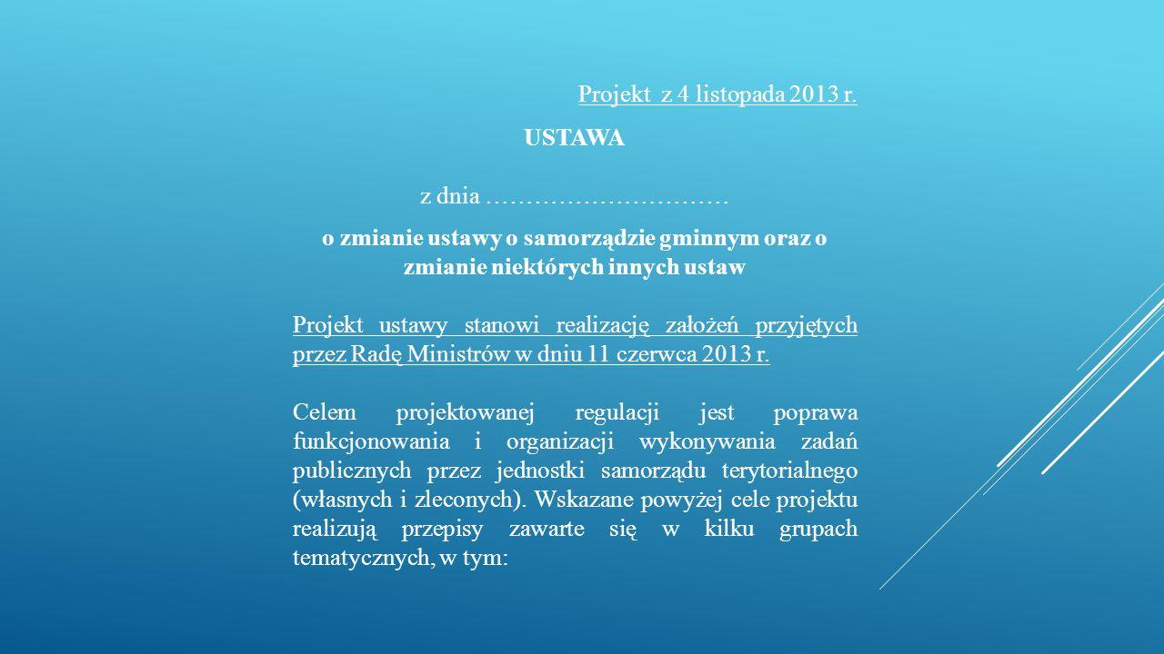 Projekt z 4 listopada 2013 r.