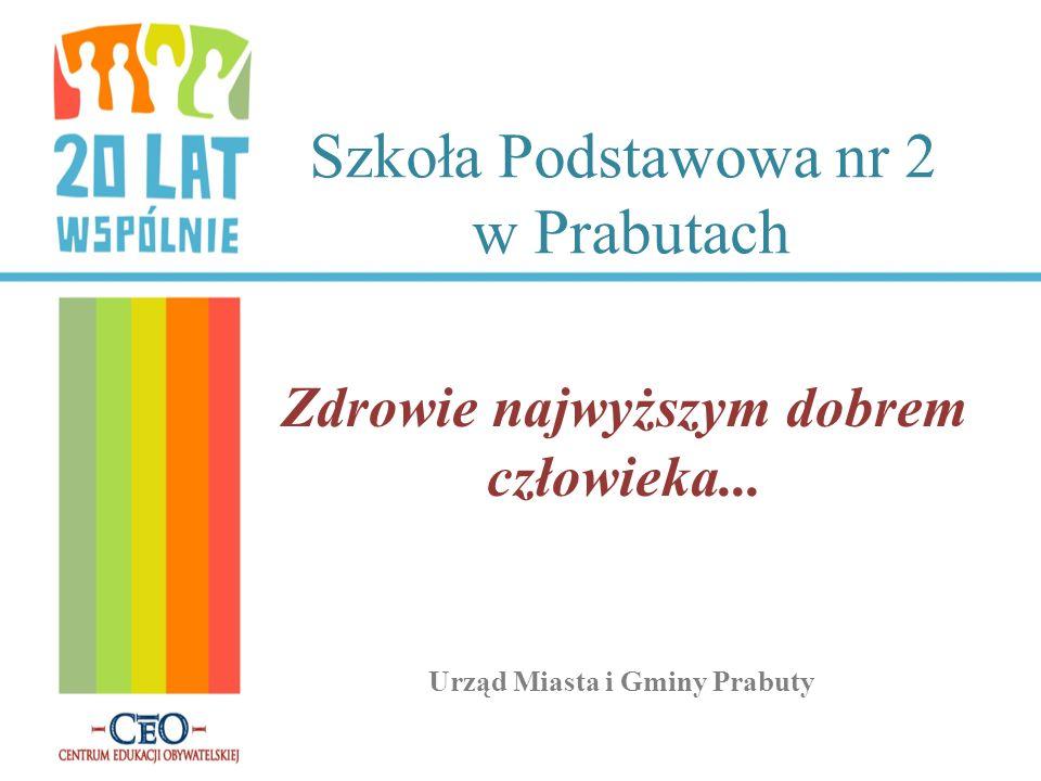 Szkoła Podstawowa nr 2 w Prabutach Zdrowie najwyższym dobrem człowieka... Urząd Miasta i Gminy Prabuty