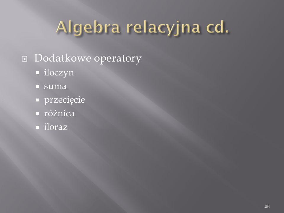Dodatkowe operatory iloczyn suma przecięcie różnica iloraz 46