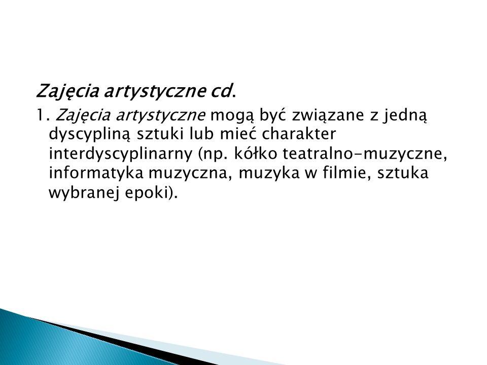 Zajęcia artystyczne cd.1.