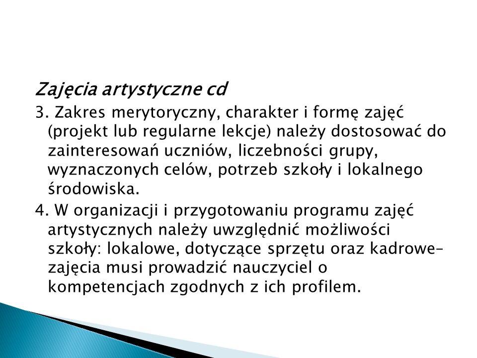 Zajęcia artystyczne cd 3.