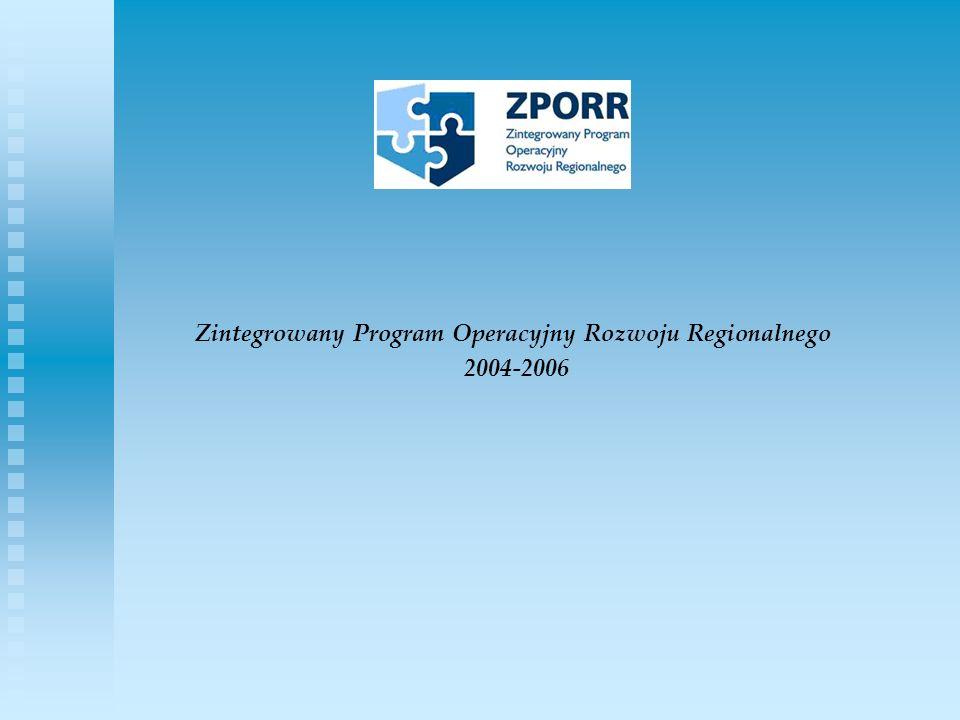 Zintegrowany Program Operacyjny Rozwoju Regionalnego 2004-2006