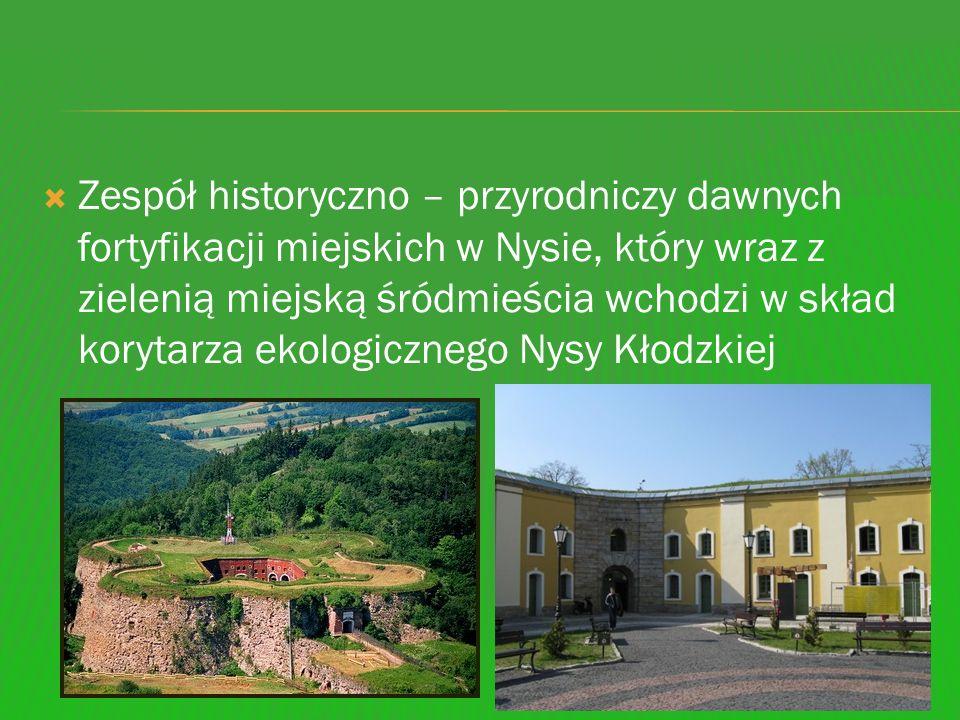 Zespół historyczno – przyrodniczy dawnych fortyfikacji miejskich w Nysie, który wraz z zielenią miejską śródmieścia wchodzi w skład korytarza ekologic