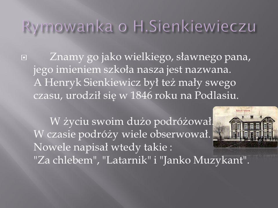 Henryk Sienkiewicz miał trzy piękne żony.