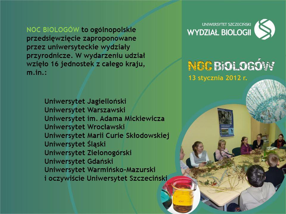 NOC BIOLOGÓW to ogólnopolskie przedsięwzięcie zaproponowane przez uniwersyteckie wydziały przyrodnicze.