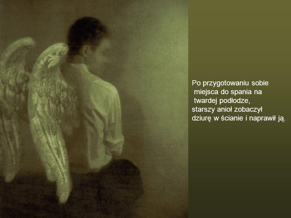Dwa podróżujące anioły zatrzymały się na noc w domu bogatej rodziny. Rodzina była niegrzeczna i odmówiła aniołom nocowania w pokoju dla gości, który z