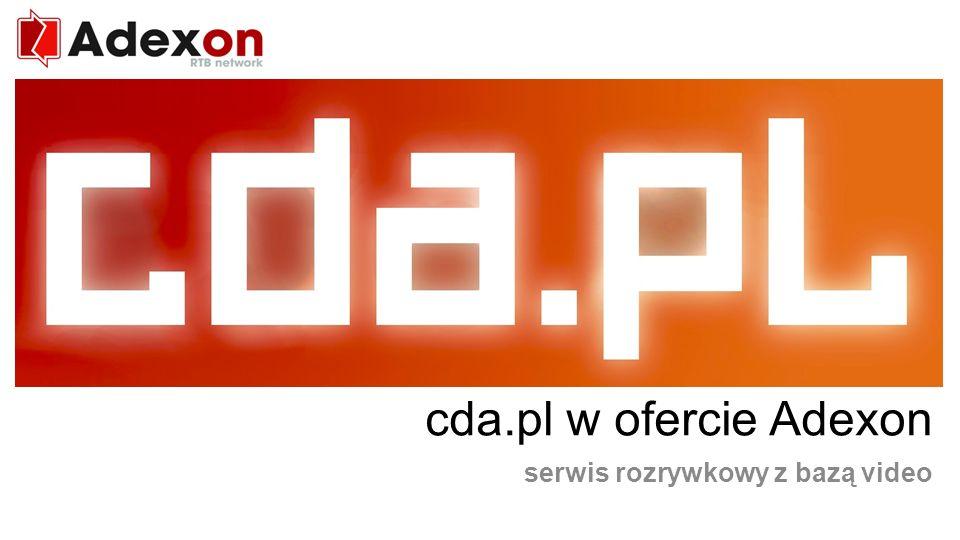RTB network cda.pl w ofercie Adexon serwis rozrywkowy z bazą video