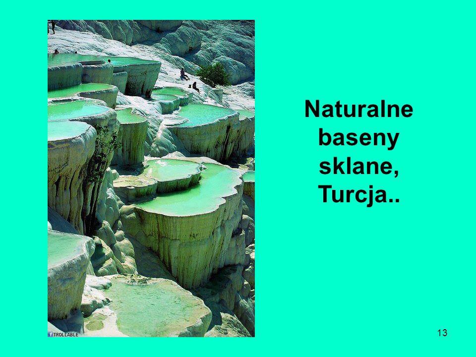 13 Naturalne baseny sklane, Turcja..