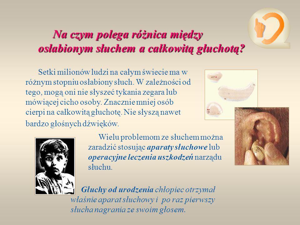 Głuchota dziedziczna występuje raczej rzadko.