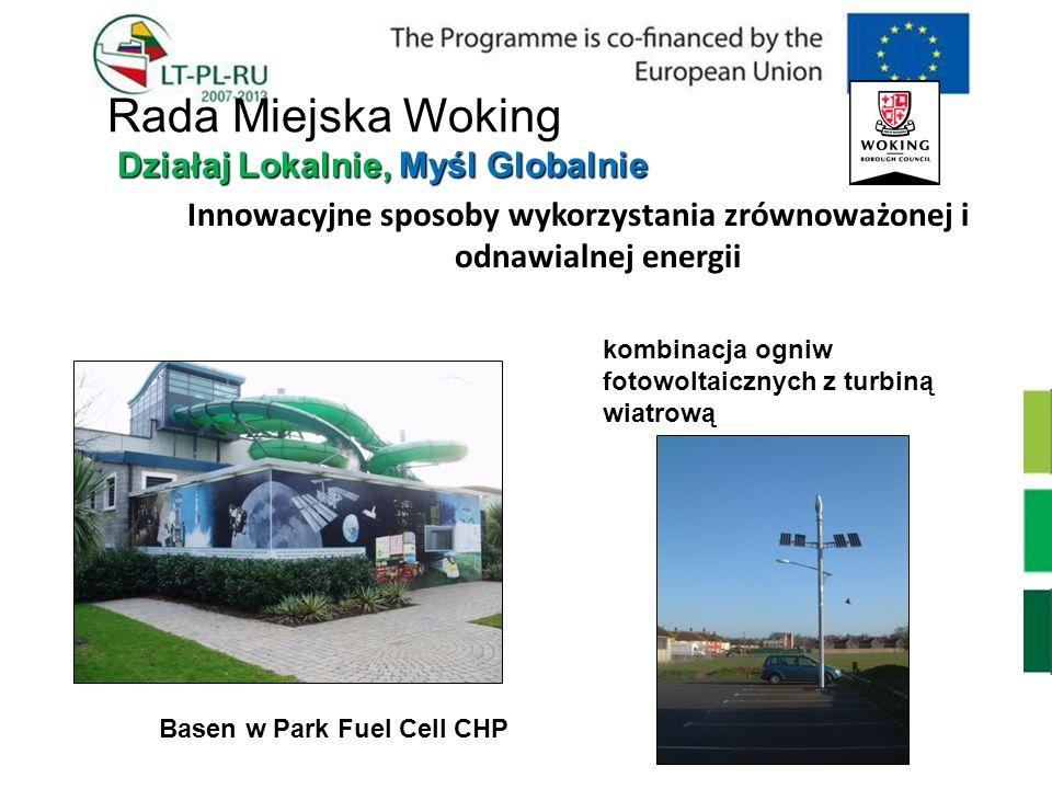 Innowacyjne sposoby wykorzystania zrównoważonej i odnawialnej energii Basen w Park Fuel Cell CHP kombinacja ogniw fotowoltaicznych z turbiną wiatrową