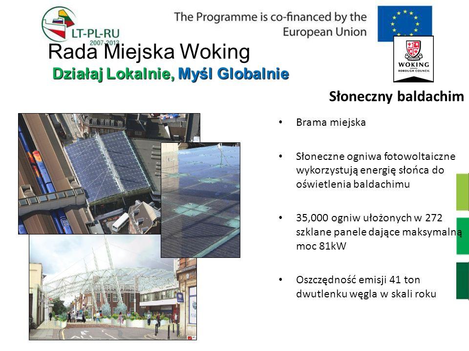 Słoneczny baldachim Brama miejska Słoneczne ogniwa fotowoltaiczne wykorzystują energię słońca do oświetlenia baldachimu 35,000 ogniw ułożonych w 272 s