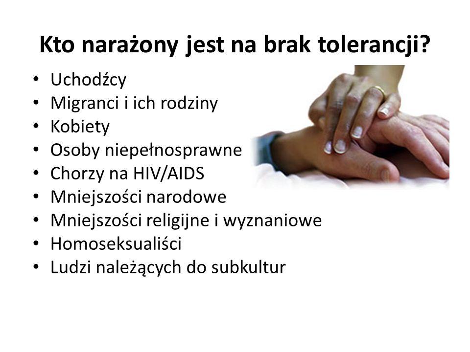Kto narażony jest na brak tolerancji.