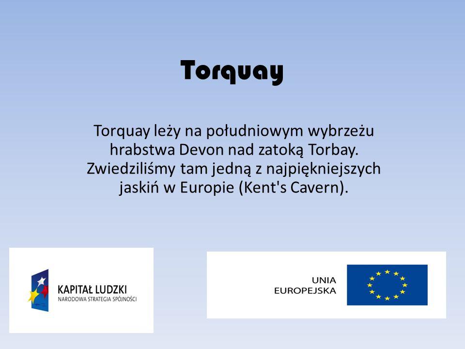 Torquay Torquay leży na południowym wybrzeżu hrabstwa Devon nad zatoką Torbay.