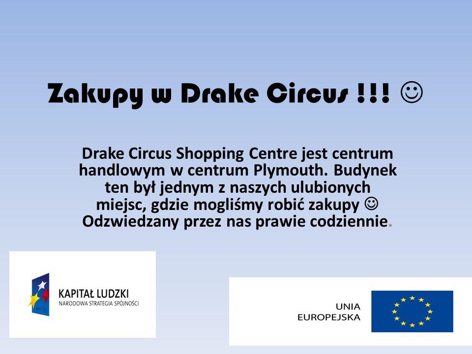 Zakupy w Drake Circus !!. Drake Circus Shopping Centre jest centrum handlowym w centrum Plymouth.