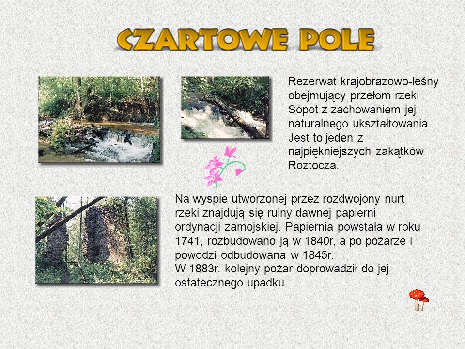 Rezerwat Krajobrazowo- leśny utworzony w 1958r.dla ochrony krajobrazu dorzeczy Jelenia i Tanwi.