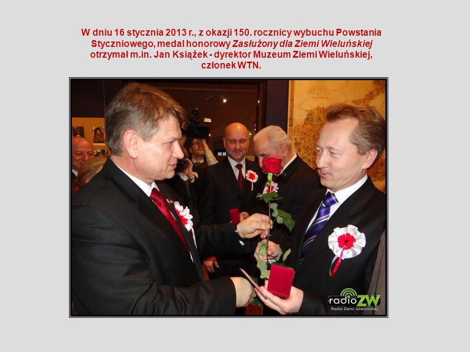 W dniu 16 stycznia 2013 r., z okazji 150. rocznicy wybuchu Powstania Styczniowego, medal honorowy Zasłużony dla Ziemi Wieluńskiej otrzymał m.in. Jan K