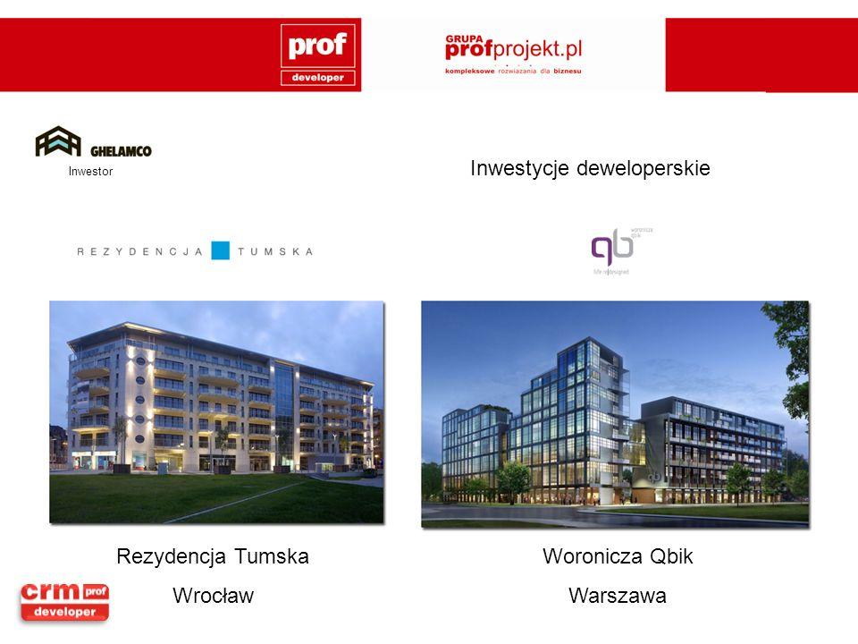 Rezydencja Tumska Wrocław Woronicza Qbik Warszawa Inwestor Inwestycje deweloperskie
